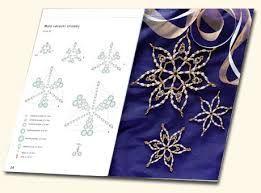Znalezione obrazy dla zapytania vánoční ozdoby z korálků návod
