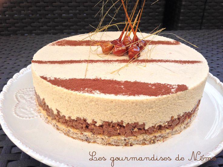 Entremet chocolat dulcey valrhona mousse dulcey for Decoration entremet