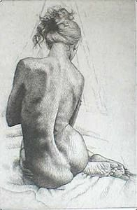 Anders Zorn etching. Love the line quality/simple drawing that ...