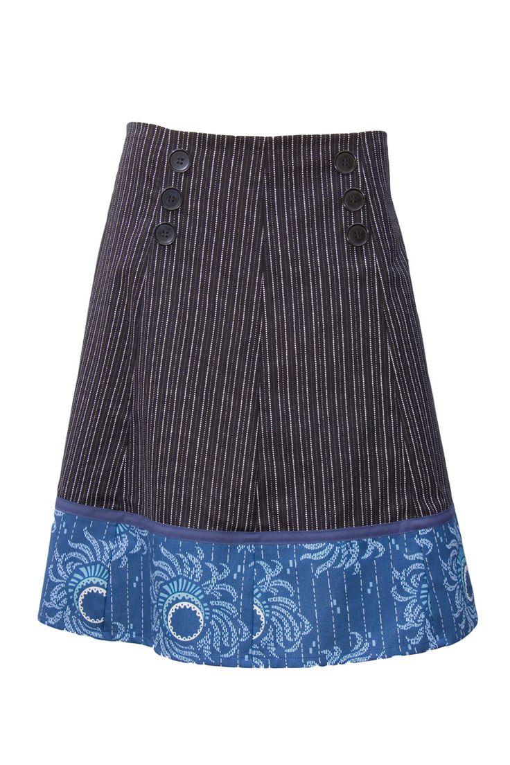Sailor skirt - 100% cotton. Ethically handmade in Australia.