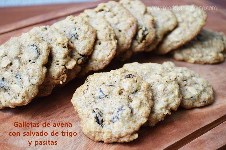 Galletas de avena con salvado y pasitas  http://www.madeleinecocina.com/2015/06/galletas-de-avena-con-salvado-de-trigo-y-pasitas/