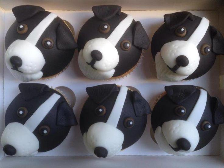Border collie cupcakes