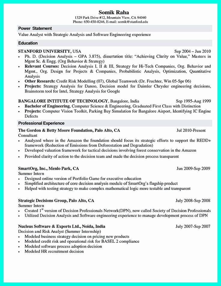 20 Computer Science Entry Level Resume in 2020