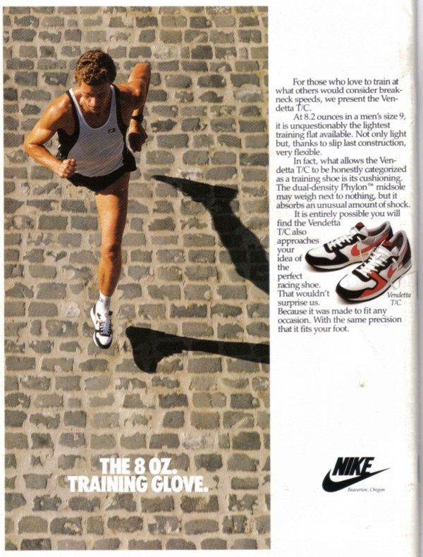 Nike Advert. 8 oz???? That's heavy by today's standards