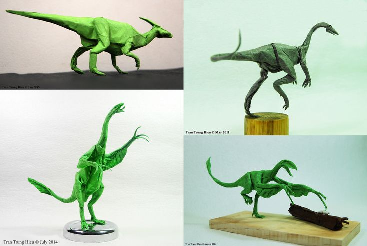 Masterful Dinosaur and Creature Origami by Adam Tran