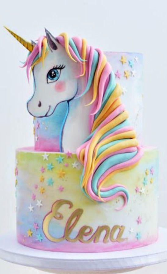 The 10 Most Magical Unicorn Cake Ideas on Pinterest  – #Else #Torten# Motivtorte #