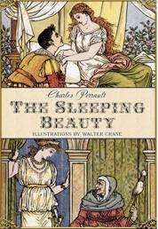 Capa de The Sleeping Beauty - contos de Charles Perrault, com ilustrações de Walter Crane