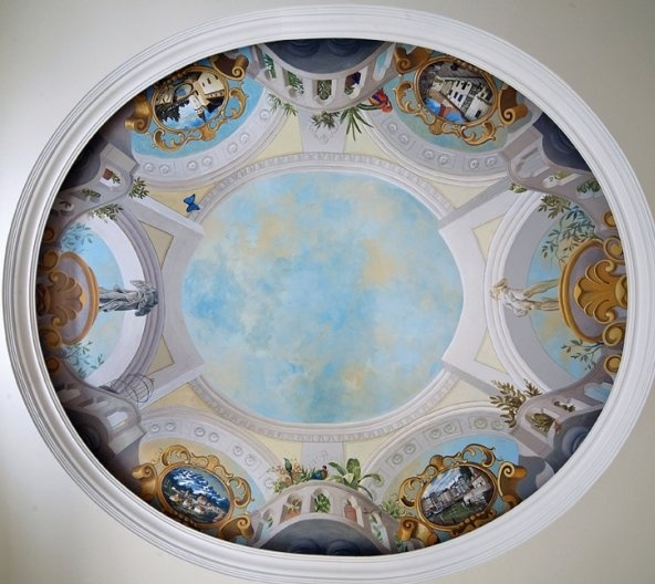17 best images about ceiling murals on pinterest painted Mural glass painting