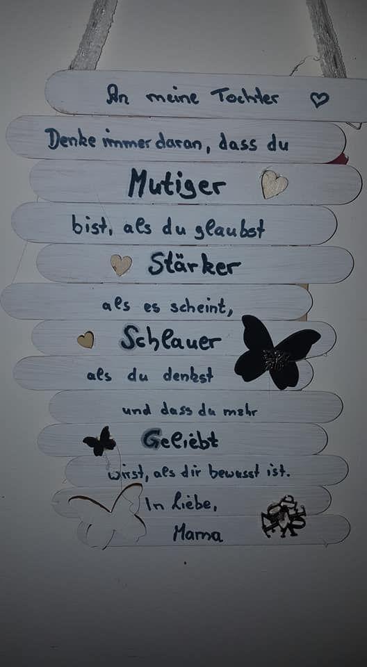 Ein Spruch für mich von meine Mutter ♥ – #Ein #…