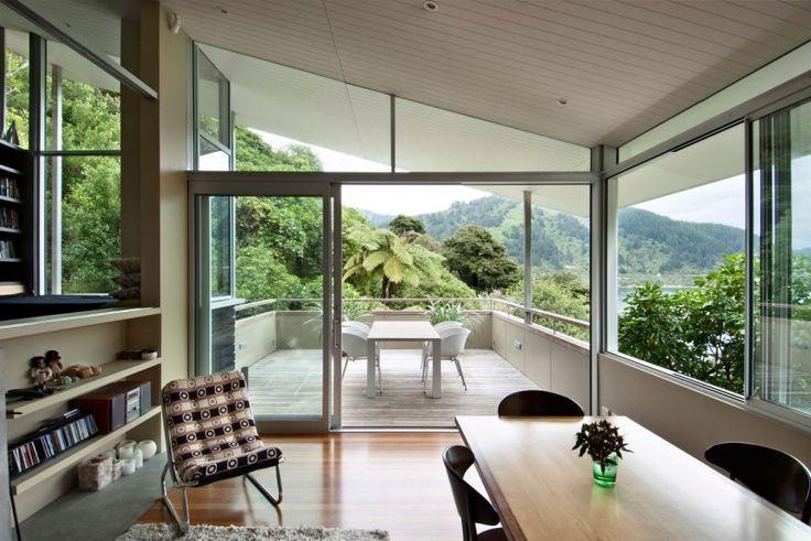 Wellington-based studio Parsonson Architects has designed this house in Apple Bay, Marlborough Sounds, New Zealand. 3