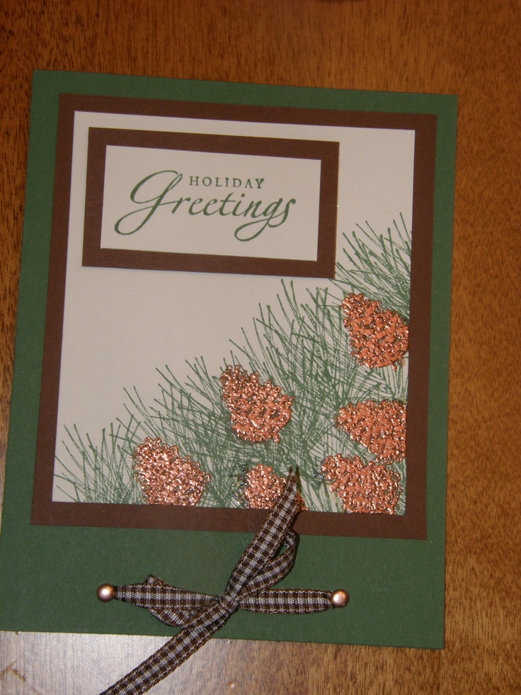 stampin up pinecone card