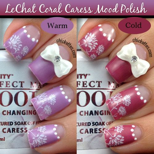 Chickettes.com - LeChat Perfect Match Mood Gel Polish - Coral Caress