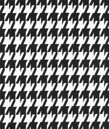 Premier Prints Large Houndstooth Black Fabric
