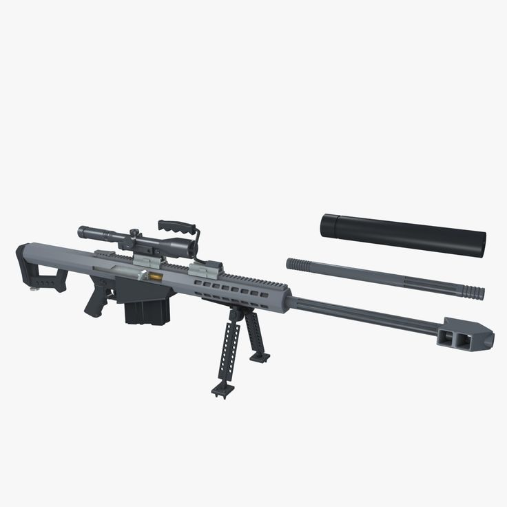 3d model barrett m82 sniper rifle