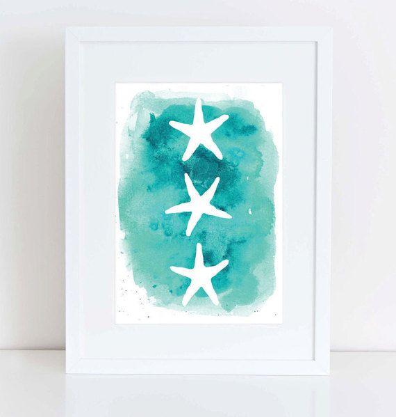 Bathroom Wall Art Canvas Artwork Nautical Coral Reef Ocean: Best 25+ Starfish Art Ideas On Pinterest