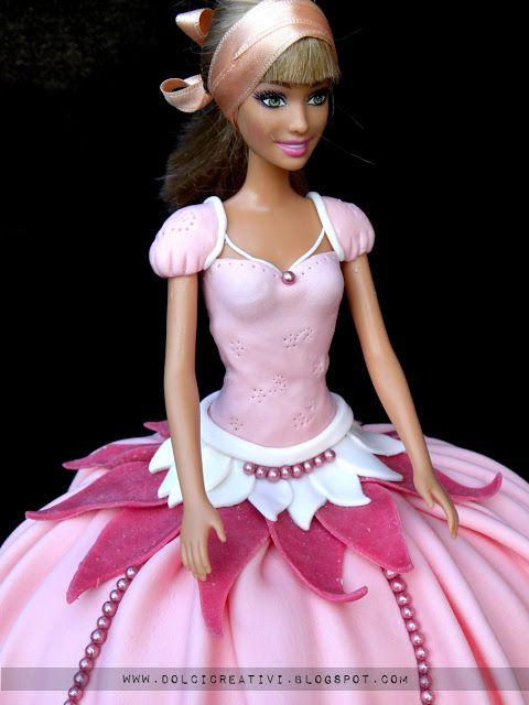 ! Dolci Creativi di Sarù - Torte decorate: Torta principessa barbie