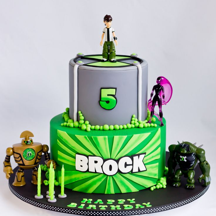 Ben 10 Cake | Bottom tier dark chocolate mud with dark choco… | Flickr
