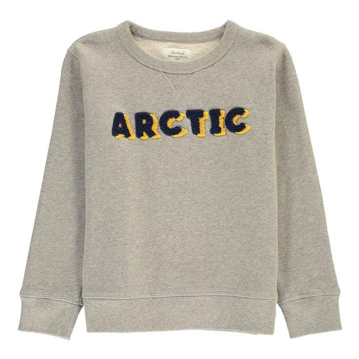 "Hartford Sweat ""Arctic"" Bouclé Gris chiné clair"