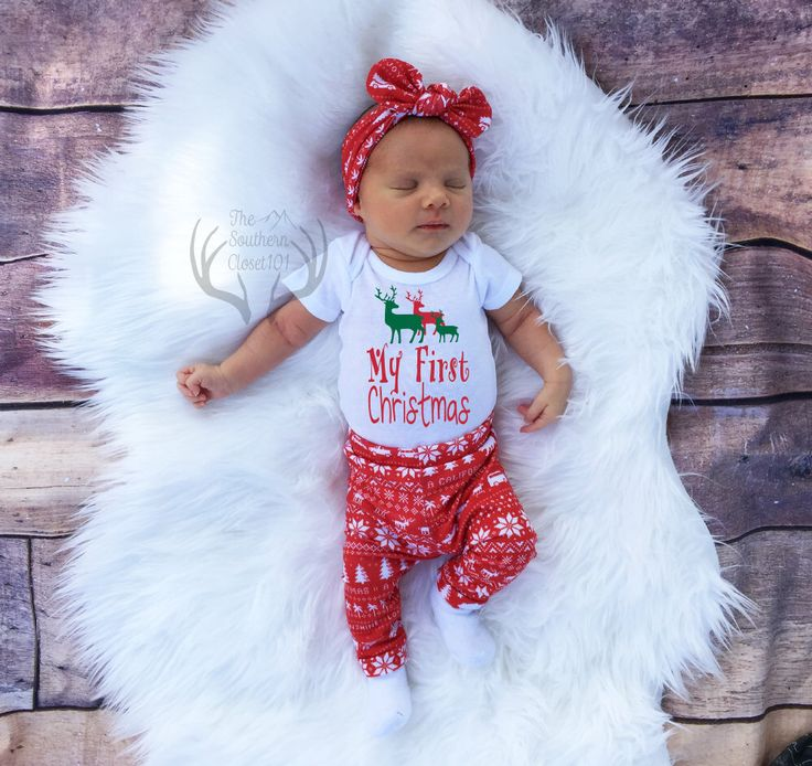 Unisex Christmas Outfit,My First Christmas,Baby, Girl Coming home outfit,Boy Coming Home Outfit,Bears,Trees,Deer,Red and White,Country by TheSouthernCloset101 on Etsy https://www.etsy.com/listing/465503892/unisex-christmas-outfitmy-first