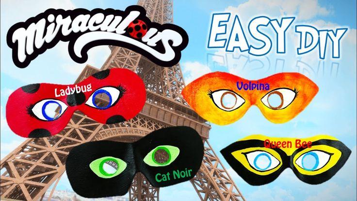 DIY Miraculous Ladybug Dress-up Masks for Ladybug Cat Noir Season 2 Volp...