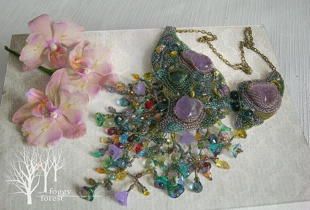 Lavander necklace | Flickr - Photo Sharing!