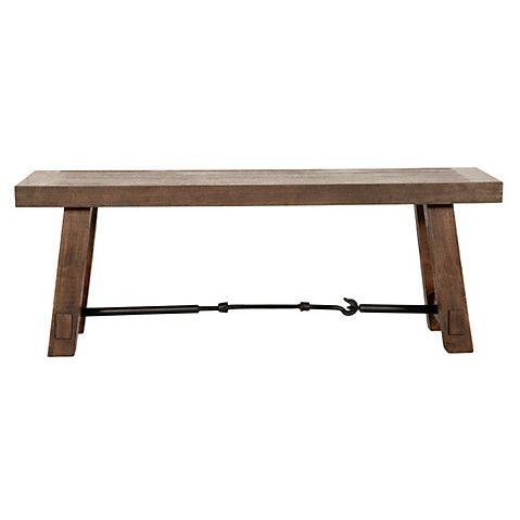 "Cara 50"" Industrial Dining Bench, Java $629.00"