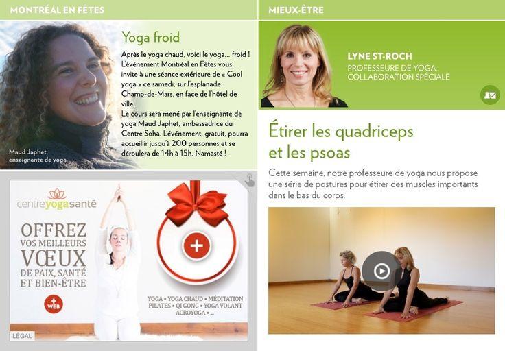Cette semaine, notre professeure de yoga nous propose une série de postures pour étirer des muscles importants dans le bas du corps.