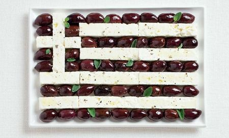 Greek food flag. Loves this for International Day at school!