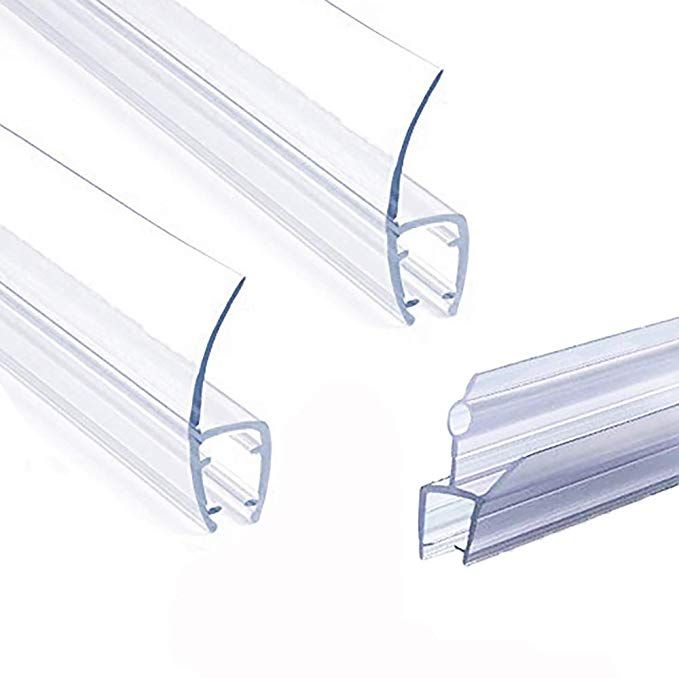 Frameless Shower Door Seal Strip Weather Stripping Seal Sweep With Drip Rail For 3 8 Inch Glass 39 Shower Doors Frameless Shower Frameless Shower Door Seal