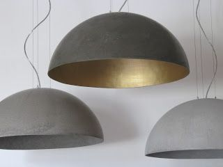 """beton unique"" - concrete lamps ... this company has more really great ideas and products using concrete"