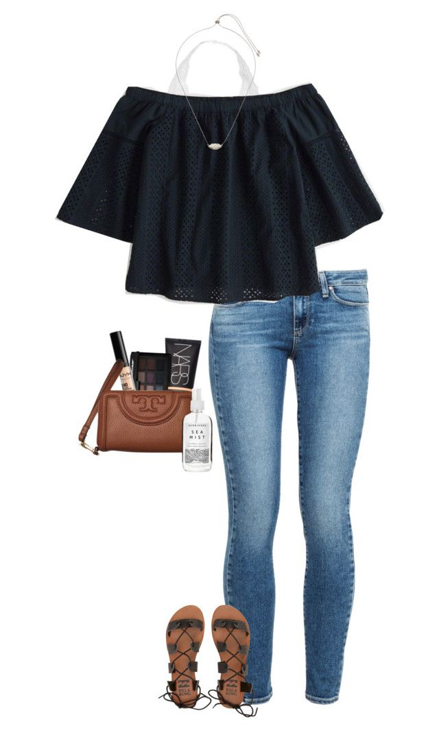 """friday night dinner"" by gabyleoni ❤ liked on Polyvore featuring Paige Denim, Youmita, Abercrombie & Fitch, Kendra Scott, NARS Cosmetics, Billabong, NYX, Tory Burch and Herbivore"