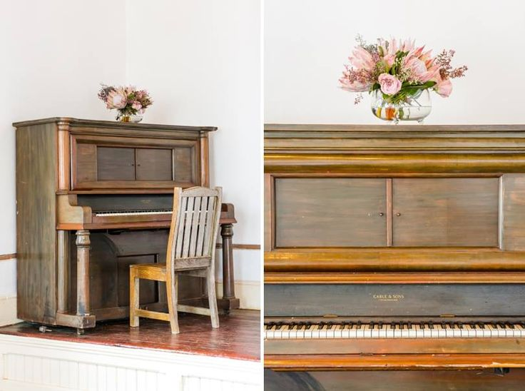 Karoo inspired wedding at Matjiesfontein, with touches of Zimbabwe.Proteas, fynbos, roses, flamelilies, blushing brides, succulents, night sky. Old piano, old church. Event planner | Wedding planner | Florist | Floral designer | Cape Town