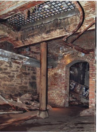 Seattle underground tour - Most would never realize we have a city upon a city... squares on top of picture has people walking on it!
