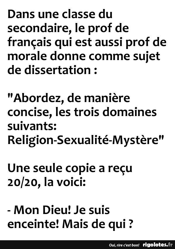 Dans une classe du secondaire... - RIGOLOTES.fr