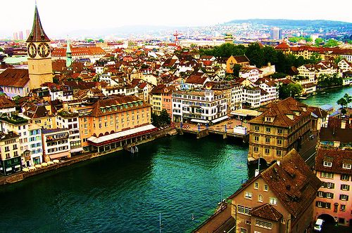 Switzerland! The buildings look well kept and the cities are generally very clean. Boyfriend is traveling abroad here very soon.