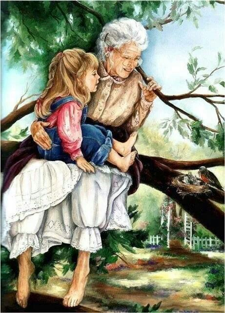 Safe In Grandma's Arms ~ Paula Vaughan