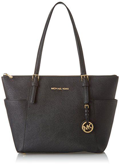 Michael Kors Womens Jet Set Item East West Top Zip Tote Black. UK handbag.
