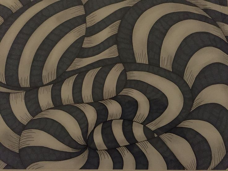 Zentangle by Rikke Poulsen Pigma pens and promarker