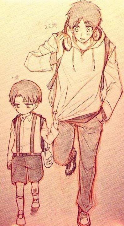 Eren y Chibi-Levi