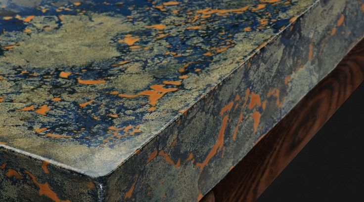 Earth Seen From The Sky sink in varnished concrete by Pietra Danzare - 1508 London on Concrete Luxury in Interior Design