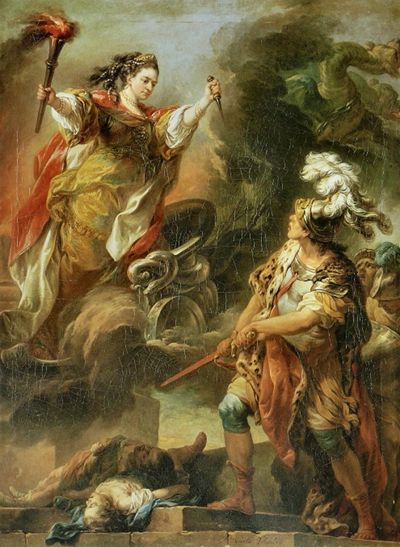 The art image for today's legend shows Jason and Medea, and there are more images here.