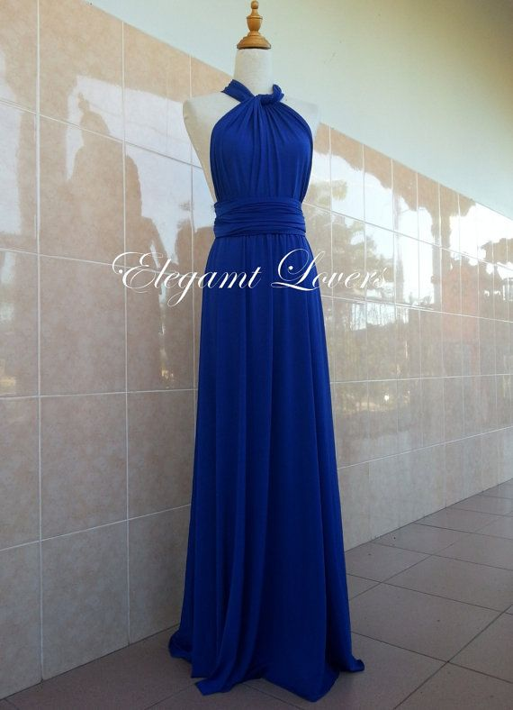 Royal Blue Wedding Dress Bridesmaid Dress by Elegantlovers on Etsy, $85.00