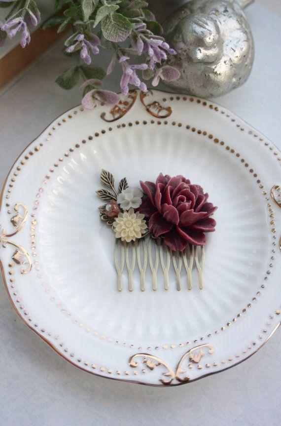 Burgunder Braun Elfenbein Mutter Chrysantheme Elfenbein