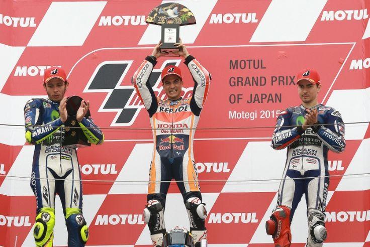 Rossi, Pedrosa, Lorenzo, Japanese MotoGP 2015