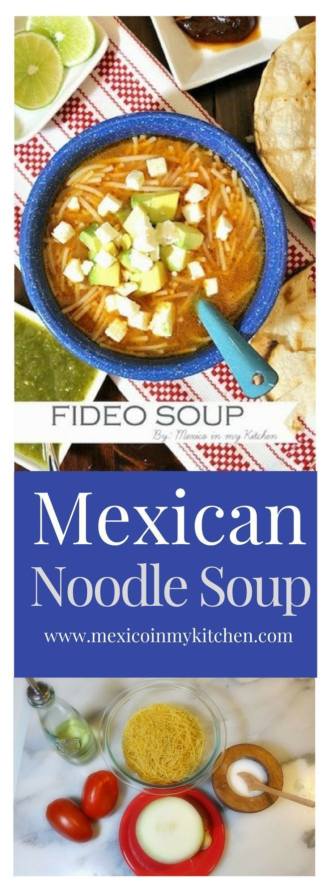 662 mejores imgenes de mexican food en pinterest mexicanos fideo soup is one of the most traditional soup recipes in mexico and is usually forumfinder Image collections