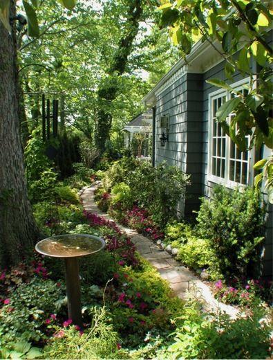 garden ideas landscaping ideas walkway path pathway side yard limestone