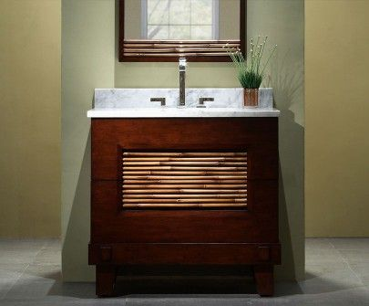 Picture Collection Website Xylem sales at Gateway Supply Floor Mount Vanities in a decorative Dark Bamboo finish