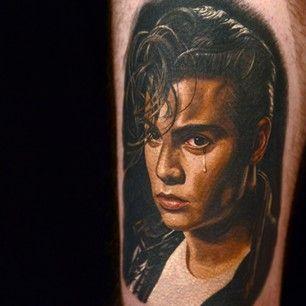 Johnny Depp.   15 Fabulous Tattoos By Nikko Hurtado