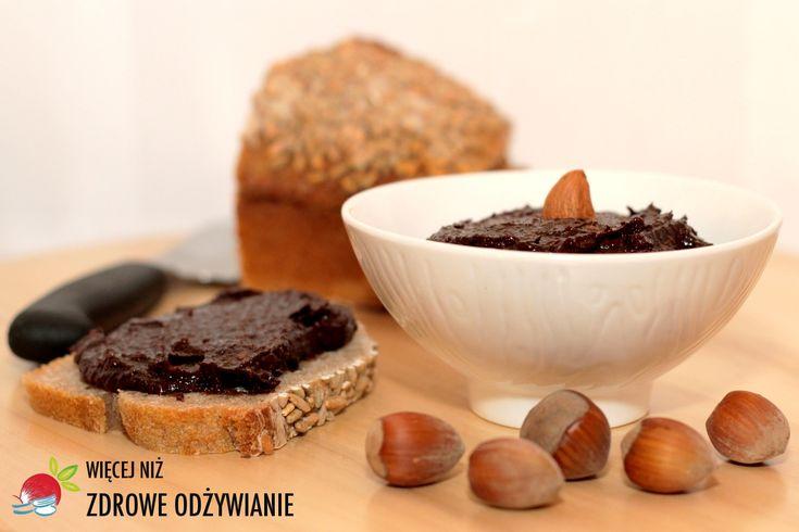 Zdrowy krem czekoladowy, Krem orzechowy, krem czekoladowy, zdrowe odżywianie, prosty przepis, domowa nutella