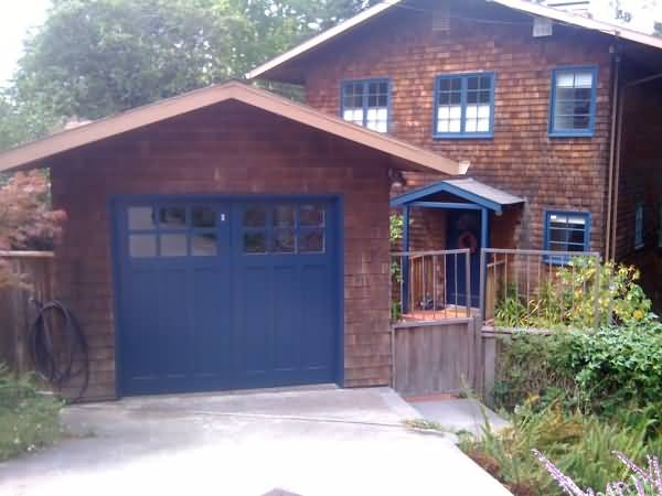 Blue garage door Paint Colors for Exterior